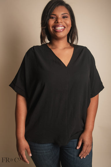Vivian Blouse - Black - Plus Size