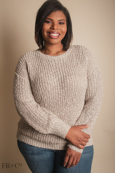 Margot Sweater - Oatmeal - Extended Size