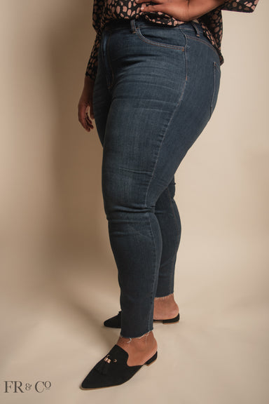 Emerson High Rise Dark Wash Jeans - Plus Size