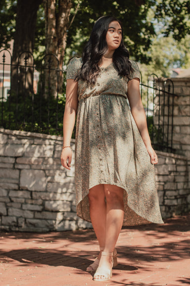 Rae High Low Dress - Pistachio