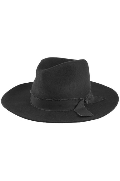 Black Trim Wool Panama Hat