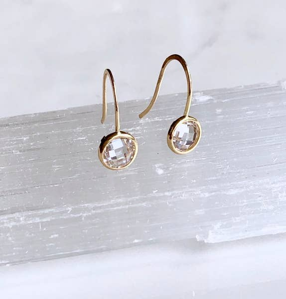 Solitaire Cz Drop Earring