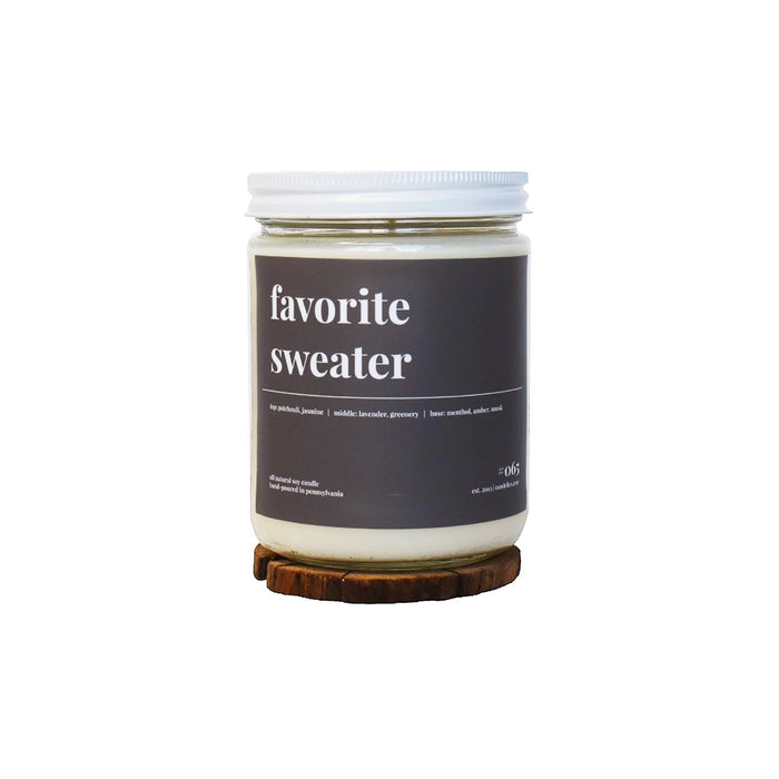 Favorite Sweater Soy Candle - 16oz