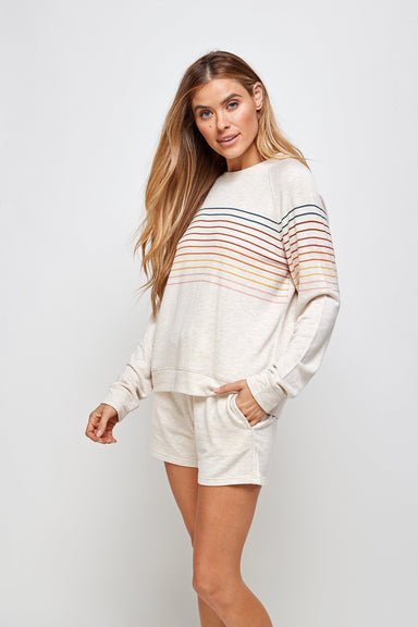 Josie Stripe Top - Cream