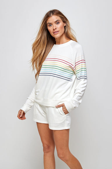 Josie Stripe Top - White