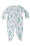 Green Cactus Footies