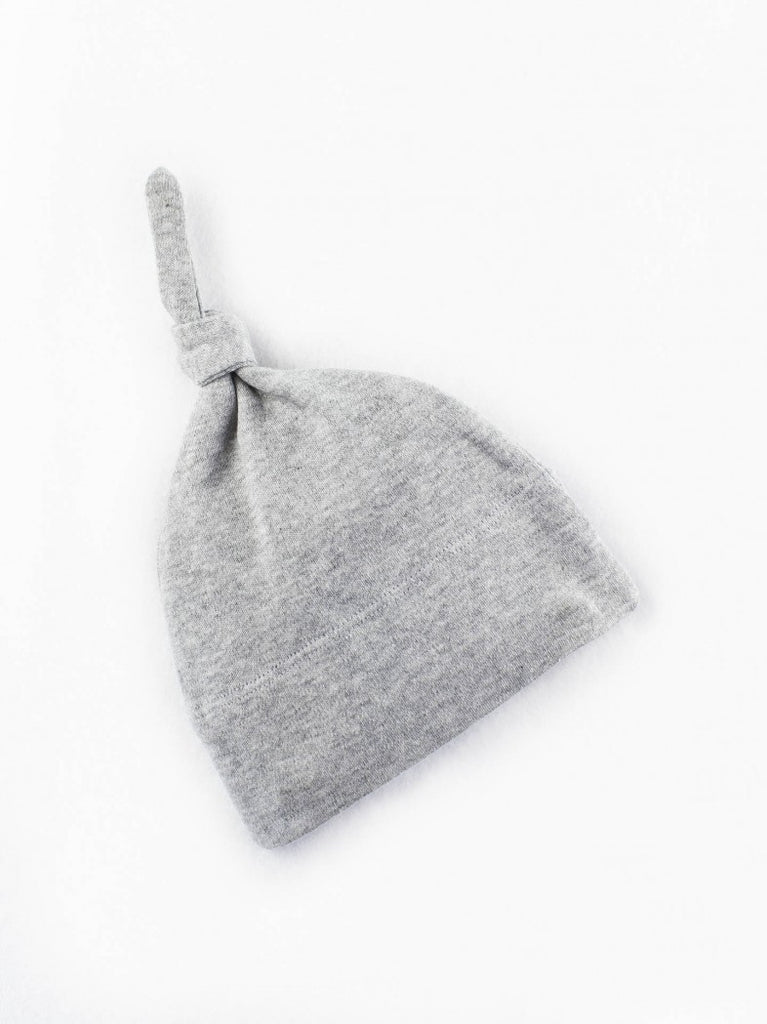 Classic Knotted Hat - Heather Grey