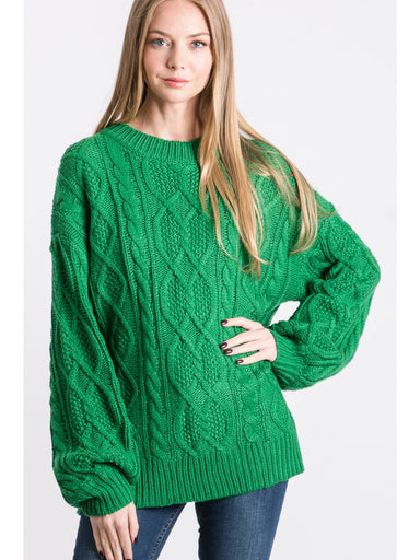 Collin Oversized Sweater - Green
