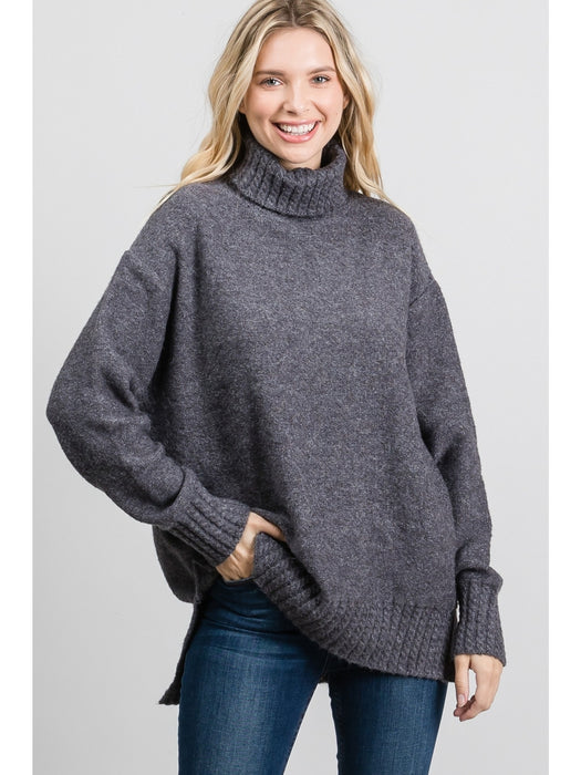 Sherri Turtleneck - Charcoal