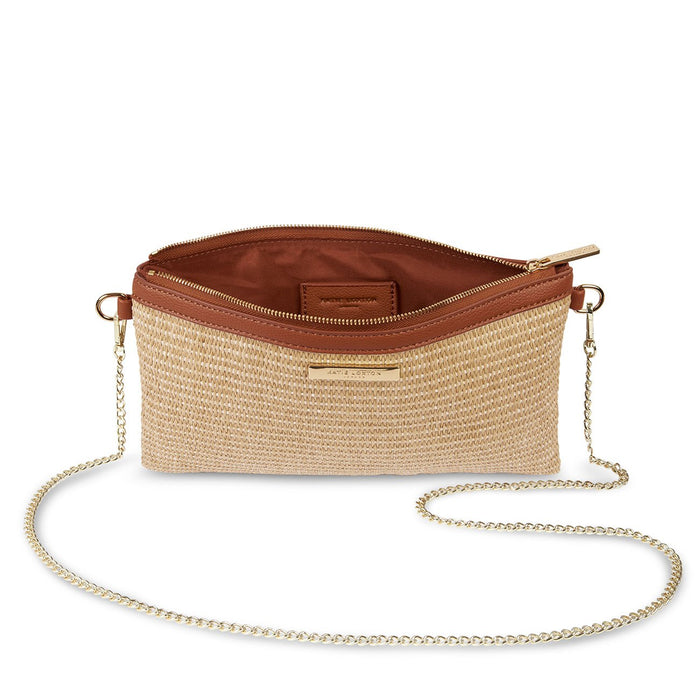 Freya Straw Crossbody Bag