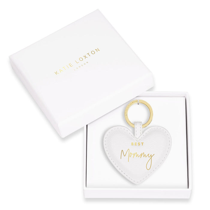 Best Mommy Heart Keychain