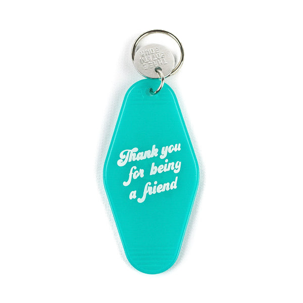 Thank You for Being a Friend Keychain - Turquoise