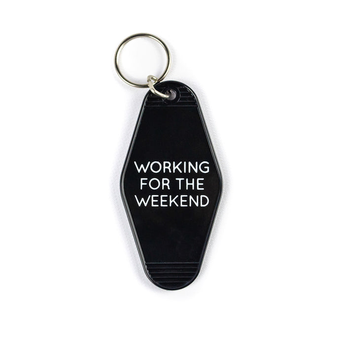 Working For The Weekend - Black Keychain