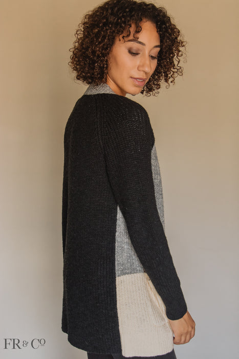 Ali Color Block Cardigan