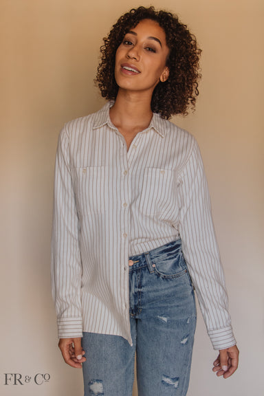 Ava Button-Up Top