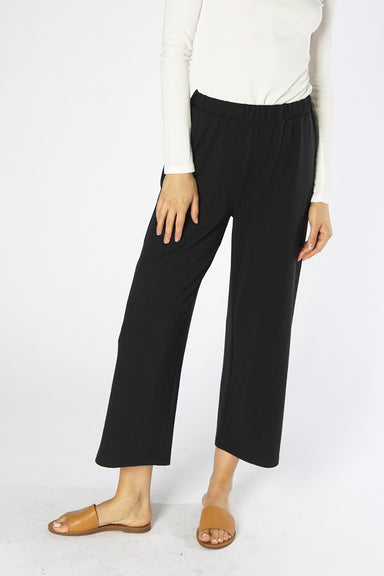 Loose Fit Ribbed Pant in Black
