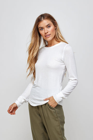 Sara Long Sleeve Top - White