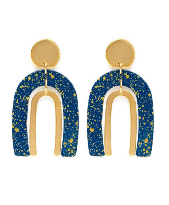 Speckled Arch Earrings