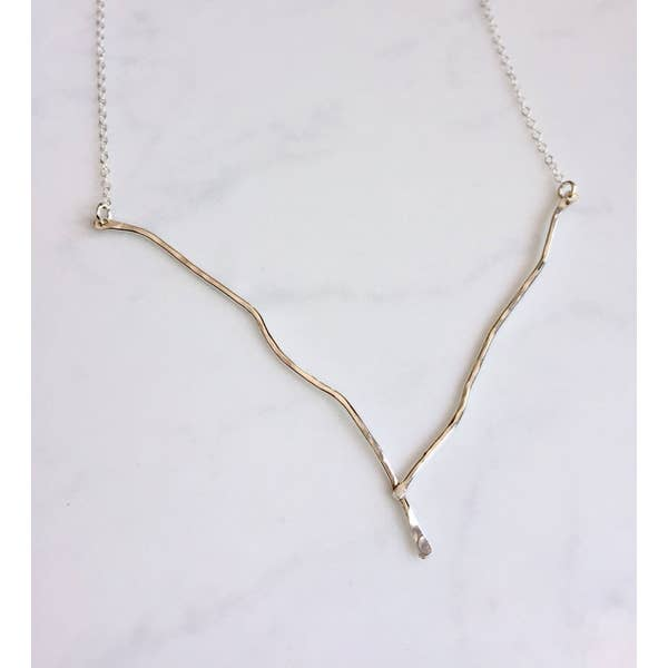Sterling Silver Branch Necklace