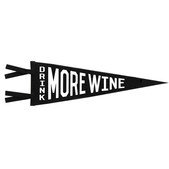 Drink More Wine - Black Pennant