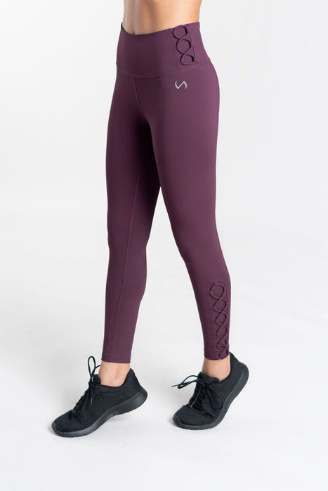 Athletic Leggings with Lacing Detail