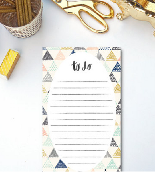 Whimsical Triangle To-Do List