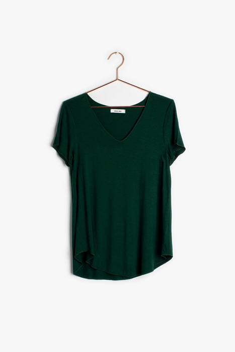 Hunter Green V-Neck Soft Tee