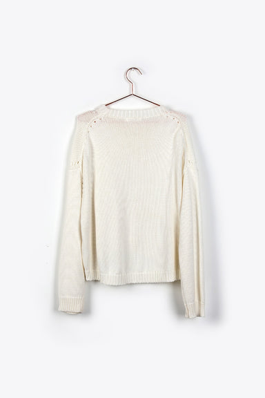 The Haven Ivory Sweater with Sleeve Detail
