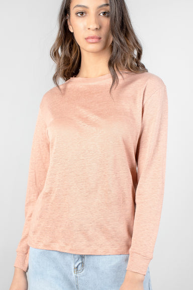 Lettie Long Sleeve Knit Crew Neck Top