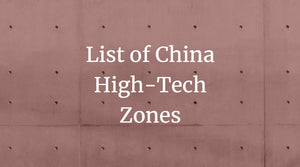 China High-Tech Zones