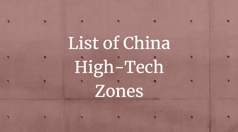 List of China High-Tech Zones