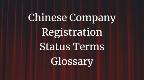 Chinese Company Registration Status Terms Glossary