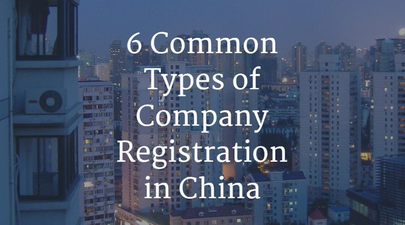 6 Common Types of Company Registration in China | China Checkup