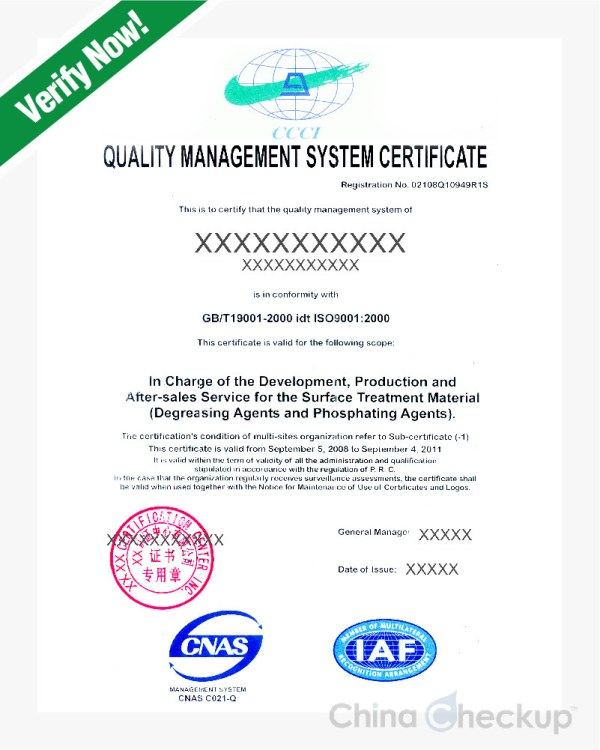 China ISO 9001 Certificate - An Introduction | China Checkup