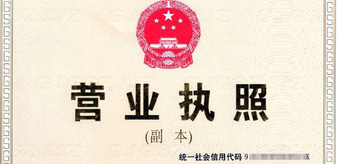 China Business License