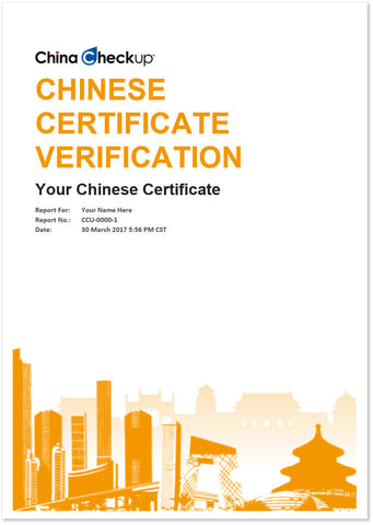 Chinese Certificate Verification Reports | China Checkup