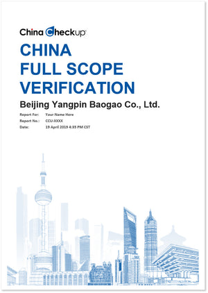 China Full Scope Verification