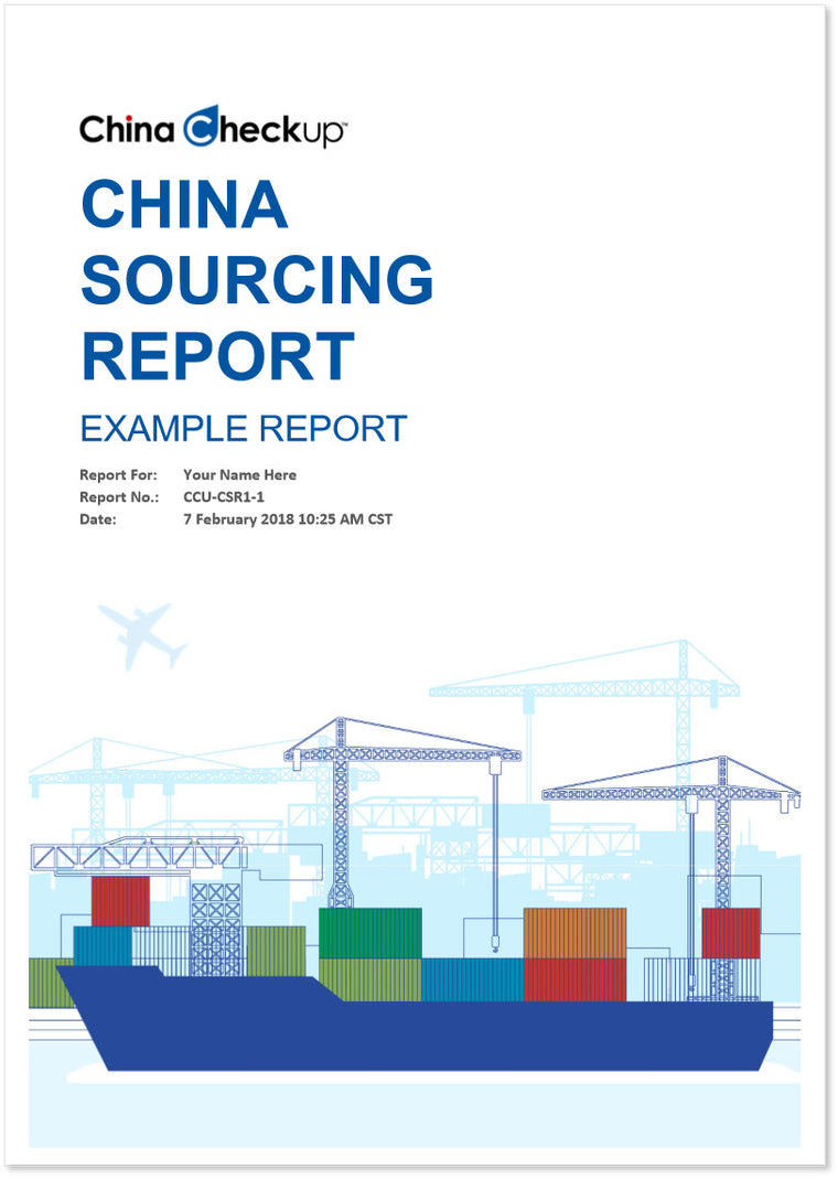 China Sourcing Report Cover