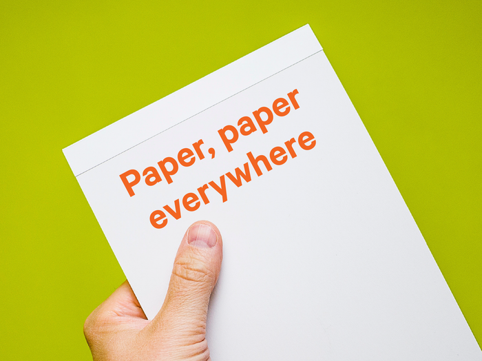 Everyday paper use