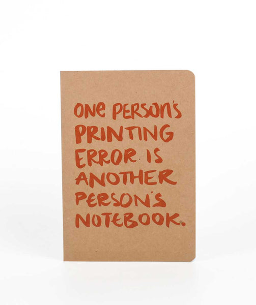 One Person's Printing Error Notebook