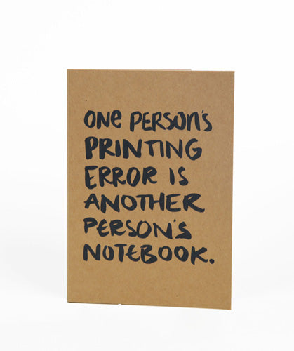 One Person's Printing Error Wire Bind Notebook