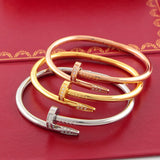 Free shipping  stainless steel nail clou bracelet bangles