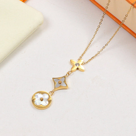 Free shipping Shell star necklace