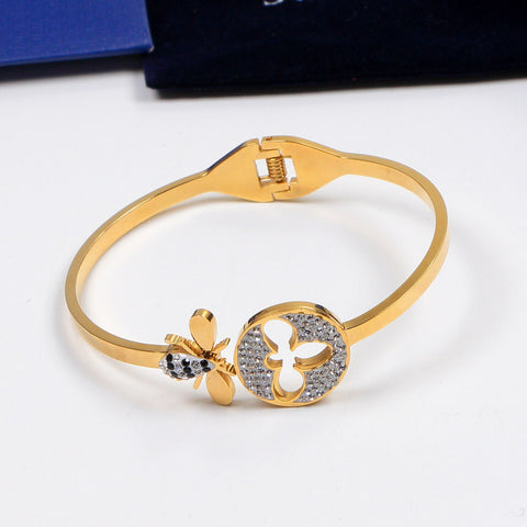 New arrival Full diamonds tiny bee bracelets