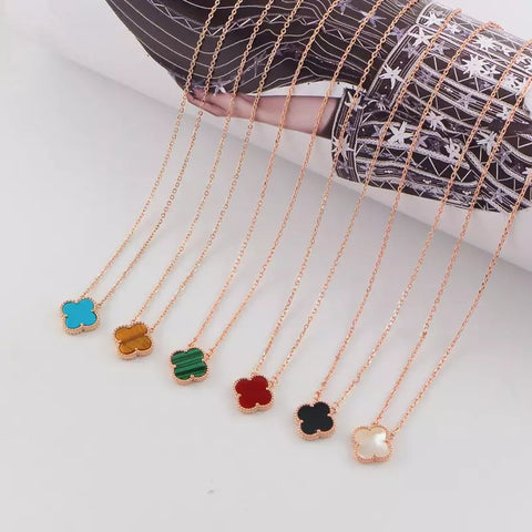 Free shipping Clover classic multicolor necklace