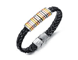 OMFEE New arrival Steel clasp wholesale plain leather bracelet