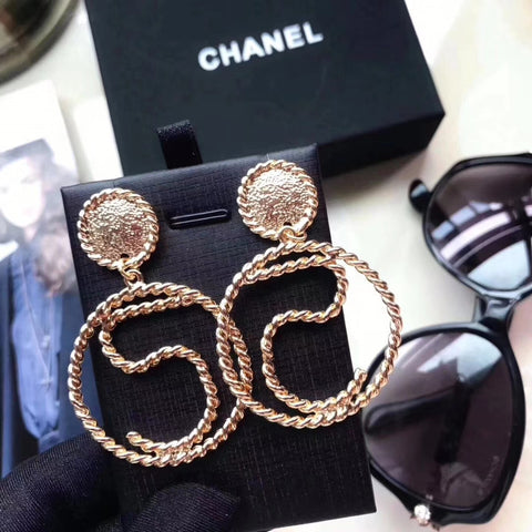 "New arrival Retro gold plating"" 5 ""earrings"