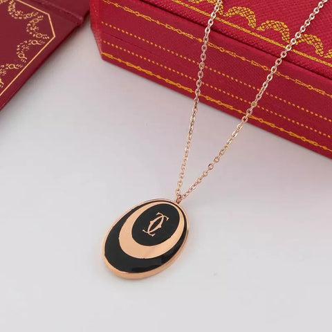 New arrival Oval classic Clavicle necklace