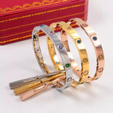 New arrival colored diamonds bracelet with a ring of eternity bangles