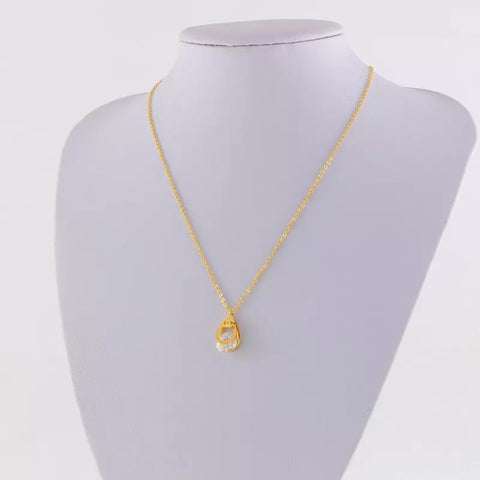 Free shipping Drop drill hollow necklace